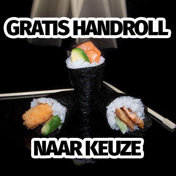 gratis handroll actie fresh2go sushi